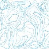 Голубая топографическая карта картины Стоковое Изображение