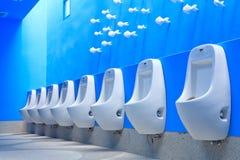 голубая уборный людей Стоковое Фото