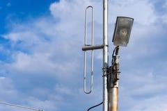 голубая улица неба светильника Стоковое Фото