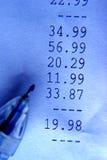 голубая финансовохозяйственная бумажная тонизированная съемка Стоковые Изображения RF
