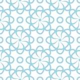 Голубая флористическая безшовная картина на белой предпосылке Стоковые Изображения RF