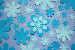 голубая флористическая картина Стоковое фото RF