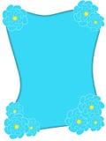 голубая флористическая рамка Стоковое фото RF