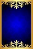 Голубая флористическая рамка Стоковое Фото