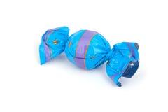 голубая фольга шоколада Стоковая Фотография