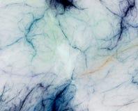 голубая фракталь мраморизовала Стоковое Фото