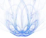 голубая фракталь фонтана Стоковые Фотографии RF