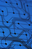 голубая цепь доски электронная Стоковое фото RF