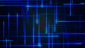 Голубая цифровая предпосылка двоичных данных волны