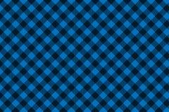 Голубая черная картина шотландки Lumberjack безшовная иллюстрация штока