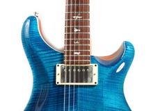 голубая электрическая гитара Стоковое Изображение RF
