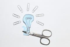 Голубая электрическая лампочка Стоковая Фотография RF