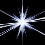 голубая эффектная звезда Стоковые Фотографии RF