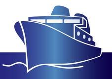 голубая яхта Стоковые Изображения