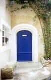 голубая дверь Провансаль Стоковые Фотографии RF