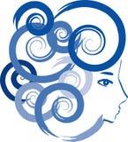 голубая девушка Стоковые Фото