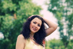 голубая eyed девушка Стоковое фото RF
