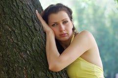 голубая eyed девушка Стоковые Изображения RF