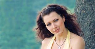 голубая eyed девушка стоковые изображения