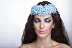 Голубая fairy девушка Стоковое Изображение