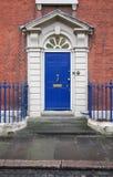 Голубая georgian дверь Стоковое Изображение