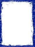 голубая grunged темнота граници Стоковое Изображение