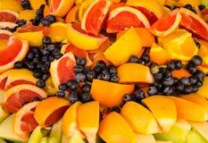 Голубики и апельсины рта моча Стоковое Фото
