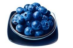 голубики bowl изолированный японец Стоковая Фотография