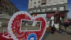 Голуби в столице Хорвата Загреба