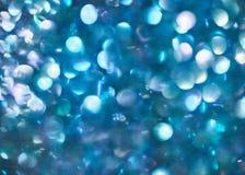 Голубое абстрактное красочное defocused круговое bokeh, абстрактное backgr Стоковое Изображение RF