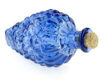 голубое бутылочное стекло Стоковая Фотография RF