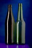 голубое бутылочное стекло Стоковые Изображения