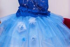 голубое венчание платья Стоковые Изображения RF