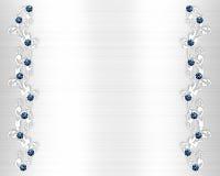 голубое венчание приглашения кристаллов иллюстрация штока