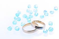 голубое венчание стоковые фото