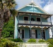 голубое викторианец дома Стоковое фото RF