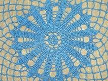 голубое вязание крючком стоковое фото rf