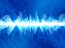 голубое глубокое искажение Стоковое Изображение RF