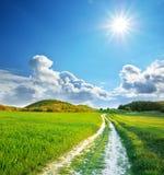 голубое глубокое небо дороги майны Стоковые Изображения