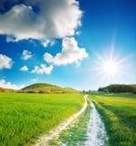 голубое глубокое небо дороги майны Стоковые Фото