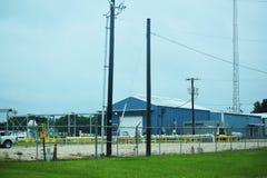 голубое здание промышленное Стоковые Изображения RF