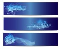 Голубое знамя вектора природы Стоковая Фотография