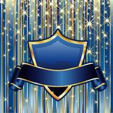 голубое золото иллюстрация вектора