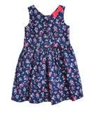 Голубое изолированное платье ` s девушки ребенка Стоковое Изображение