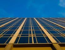 Голубое и желтое здание Стоковое фото RF