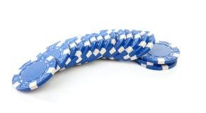 голубое казино откалывает покер стоковые фотографии rf