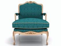 Голубое классическое стильное кресло Стоковые Изображения