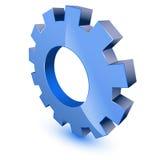 голубое колесо символа шестерни Иллюстрация вектора