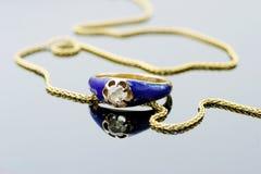 голубое кольцо Стоковое фото RF