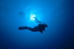 голубое Красное Море Судан водолаза Стоковая Фотография